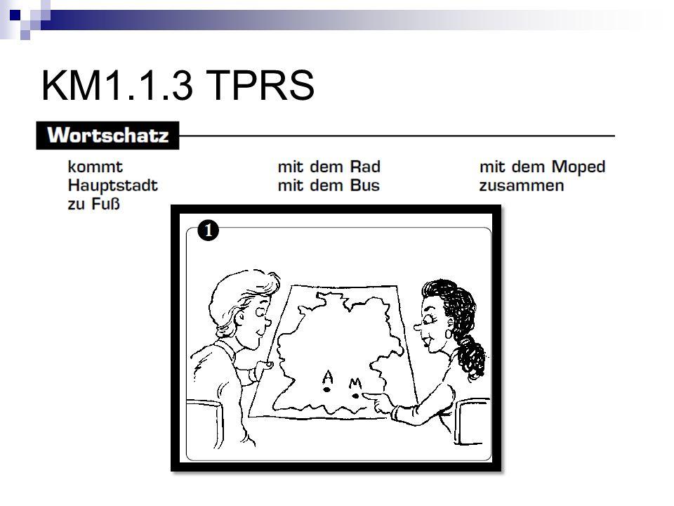 KM1.1.3 TPRS Woher kommt Anja Sie kommt aus München, der Hauptstadt von Bayern. kommt: move two fingers in walking motion toward self.