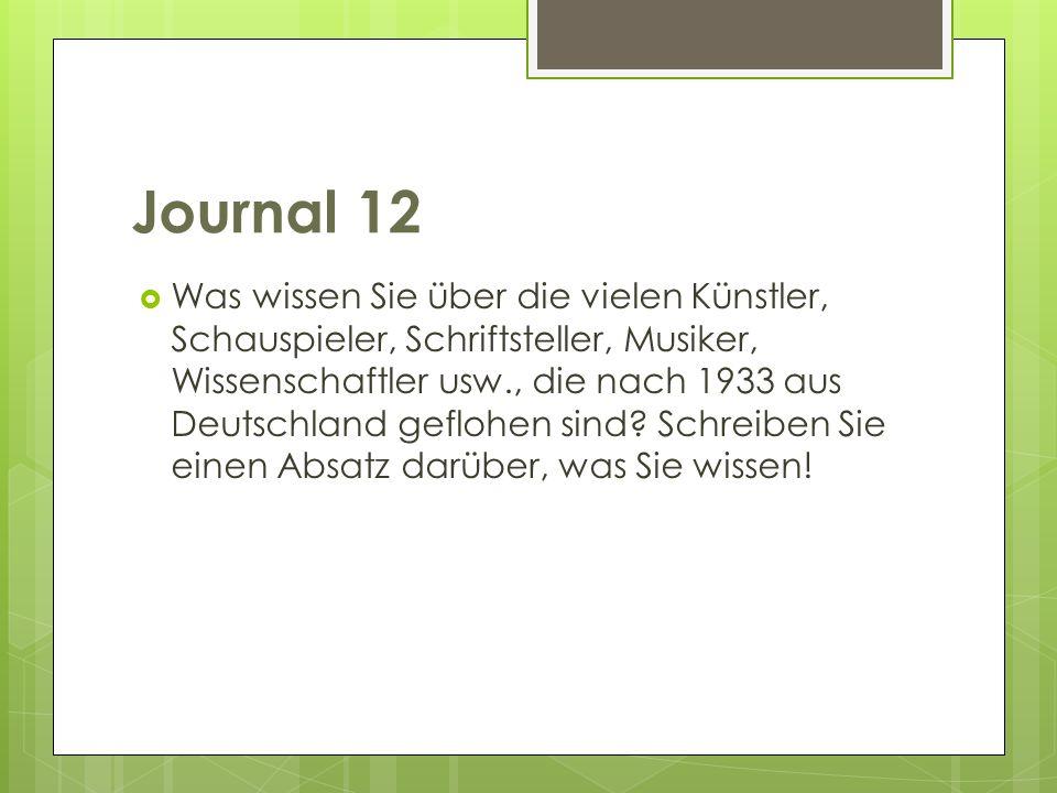 Journal 12