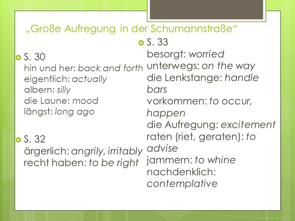 """""""Große Aufregung in der Schumannstraße"""