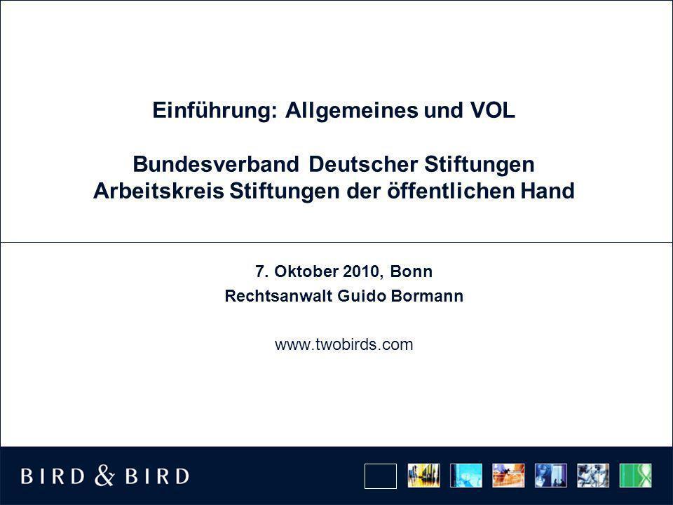 7. Oktober 2010, Bonn Rechtsanwalt Guido Bormann www.twobirds.com