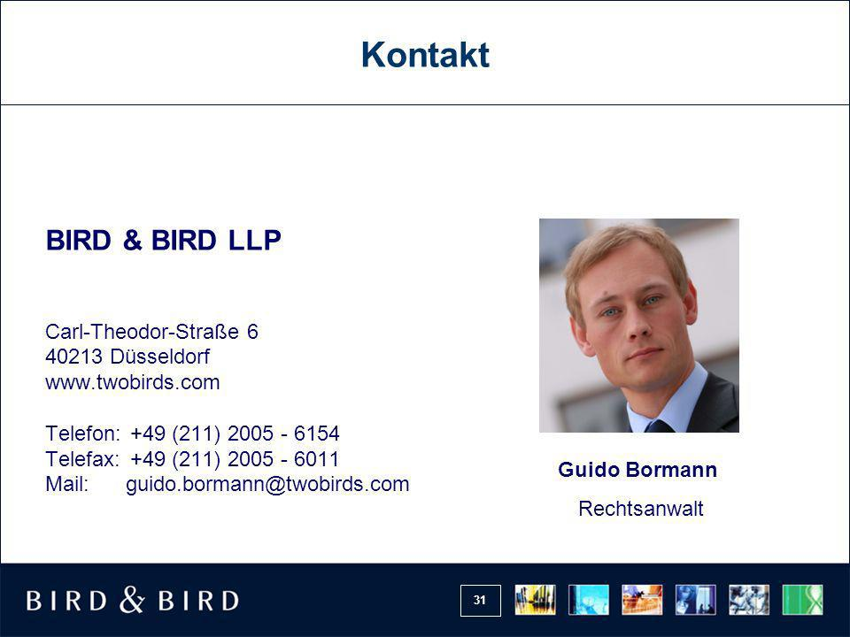 Kontakt BIRD & BIRD LLP Carl-Theodor-Straße 6 40213 Düsseldorf