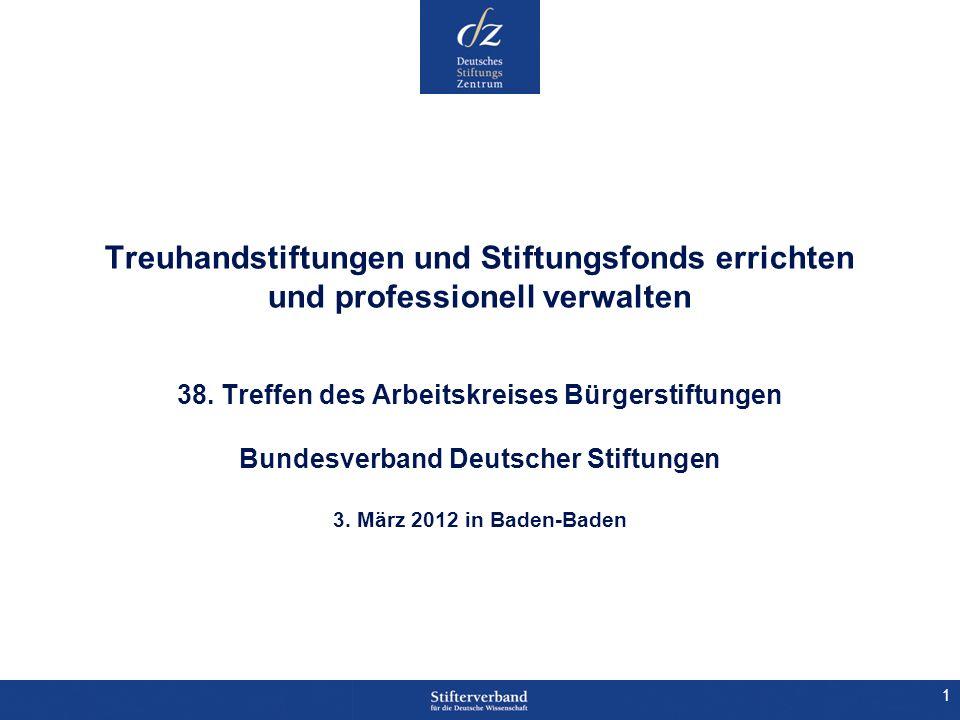 Treuhandstiftungen und Stiftungsfonds errichten und professionell verwalten 38.