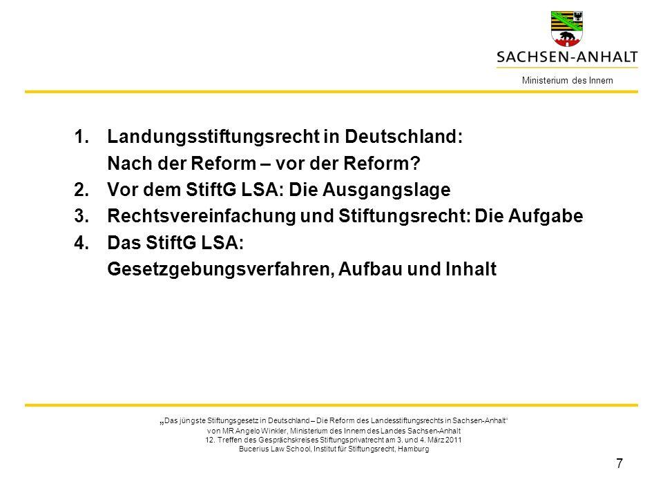 Landungsstiftungsrecht in Deutschland: