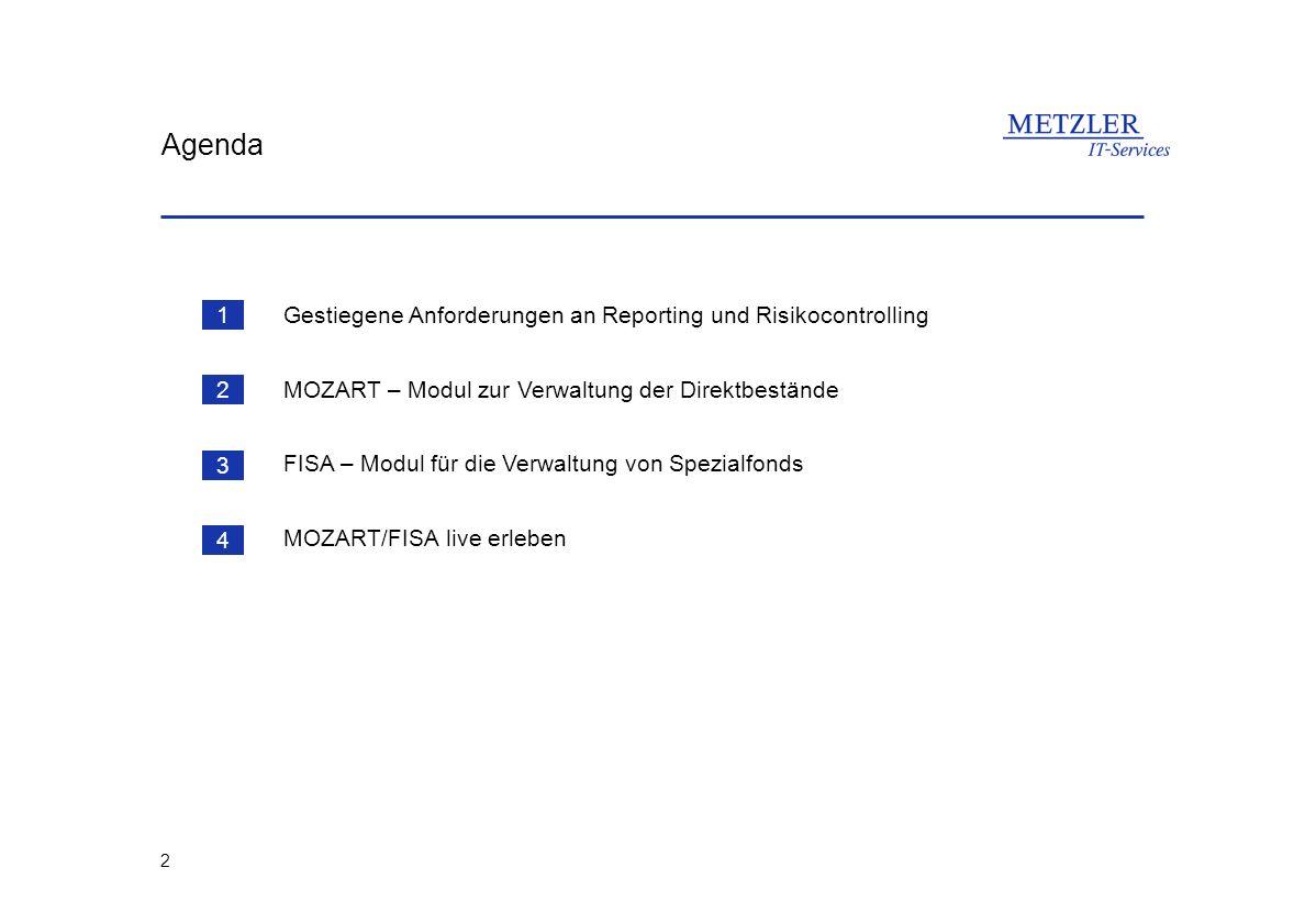 Agenda Gestiegene Anforderungen an Reporting und Risikocontrolling 1