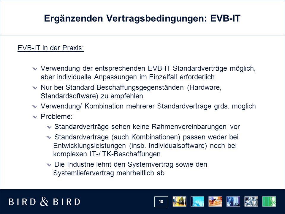 Ergänzenden Vertragsbedingungen: EVB-IT