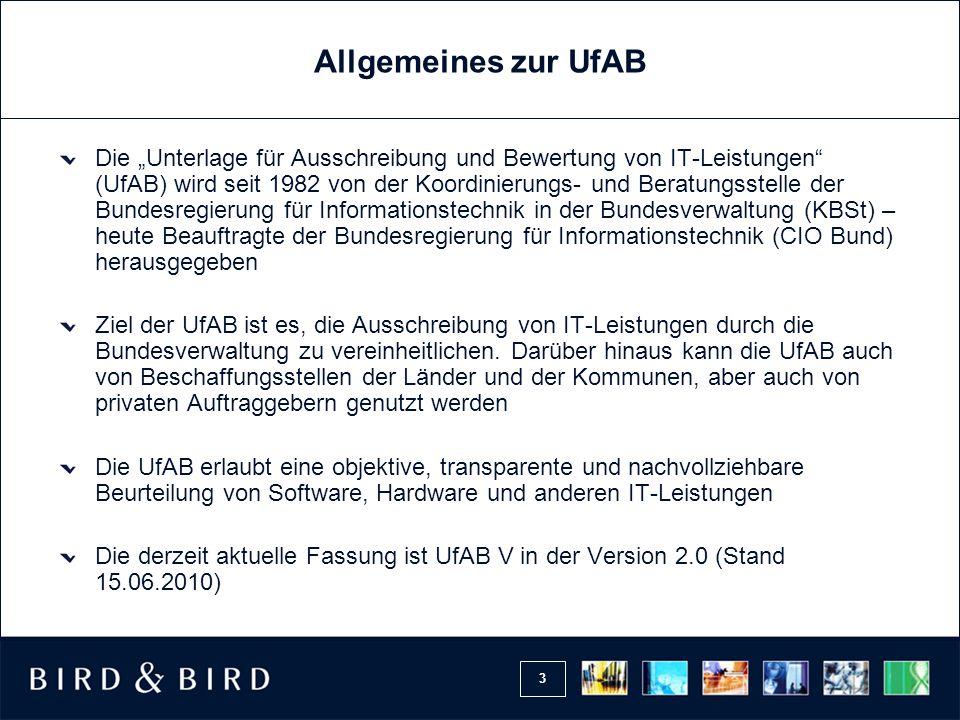 Allgemeines zur UfAB