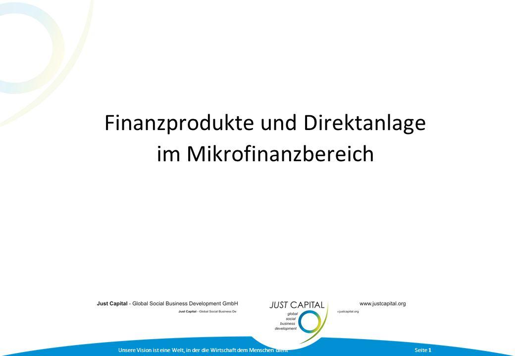 Finanzprodukte und Direktanlage im Mikrofinanzbereich
