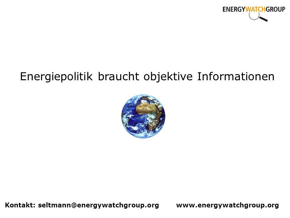 Energiepolitik braucht objektive Informationen