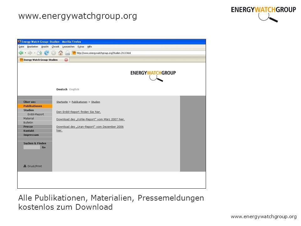 www.energywatchgroup.org Alle Publikationen, Materialien, Pressemeldungen kostenlos zum Download.