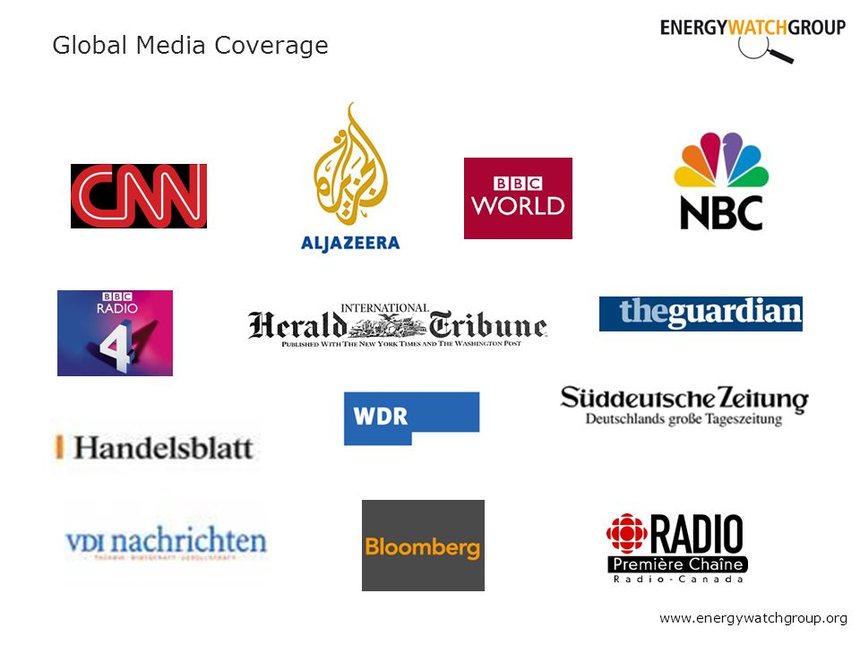 Global Media Coverage www.energywatchgroup.org