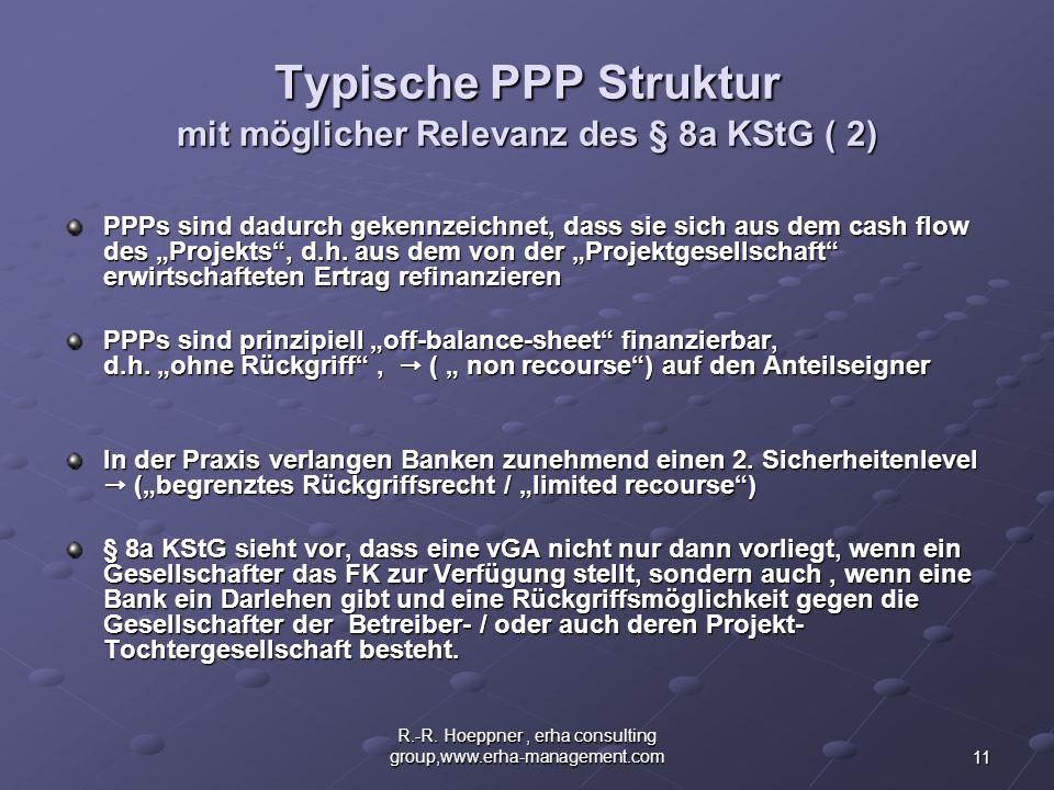 Typische PPP Struktur mit möglicher Relevanz des § 8a KStG ( 2)