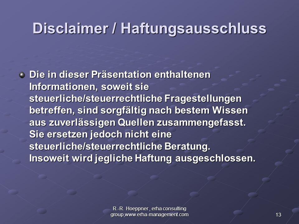 Disclaimer / Haftungsausschluss