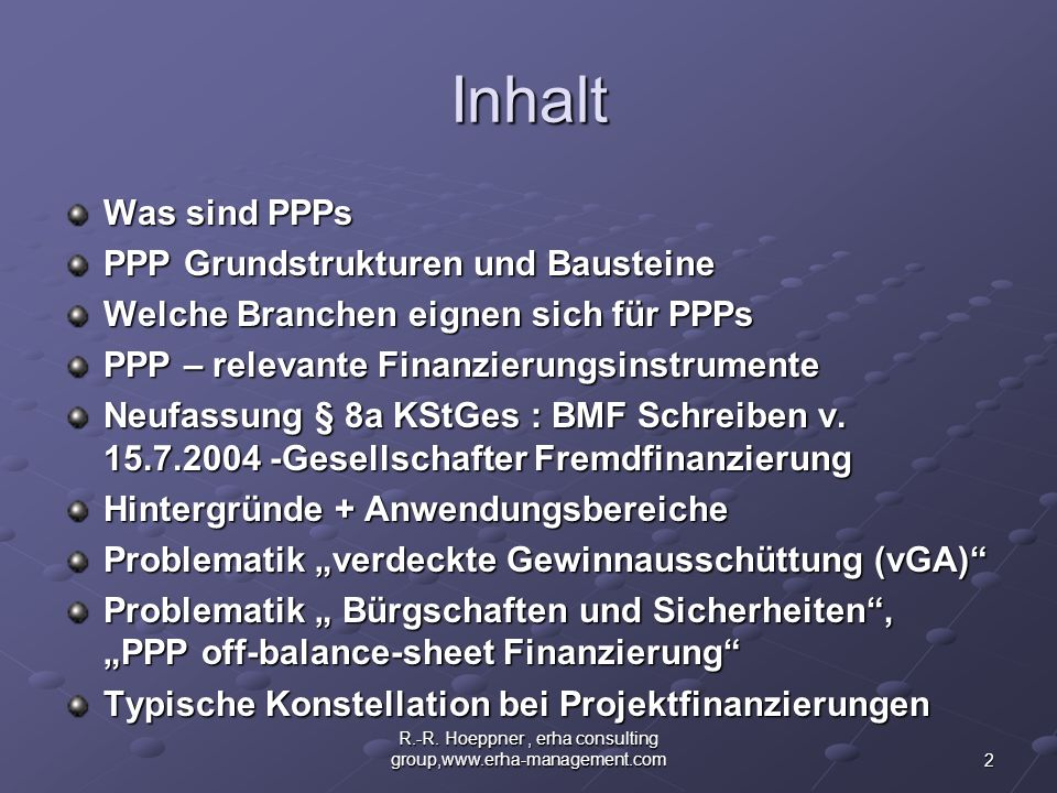 R.-R. Hoeppner , erha consulting group,www.erha-management.com