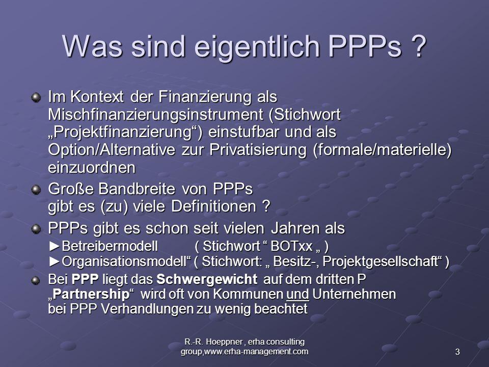 Was sind eigentlich PPPs
