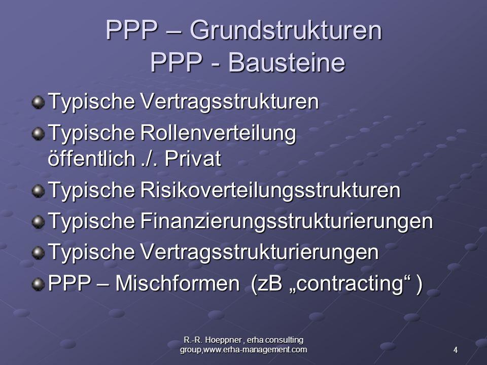 PPP – Grundstrukturen PPP - Bausteine