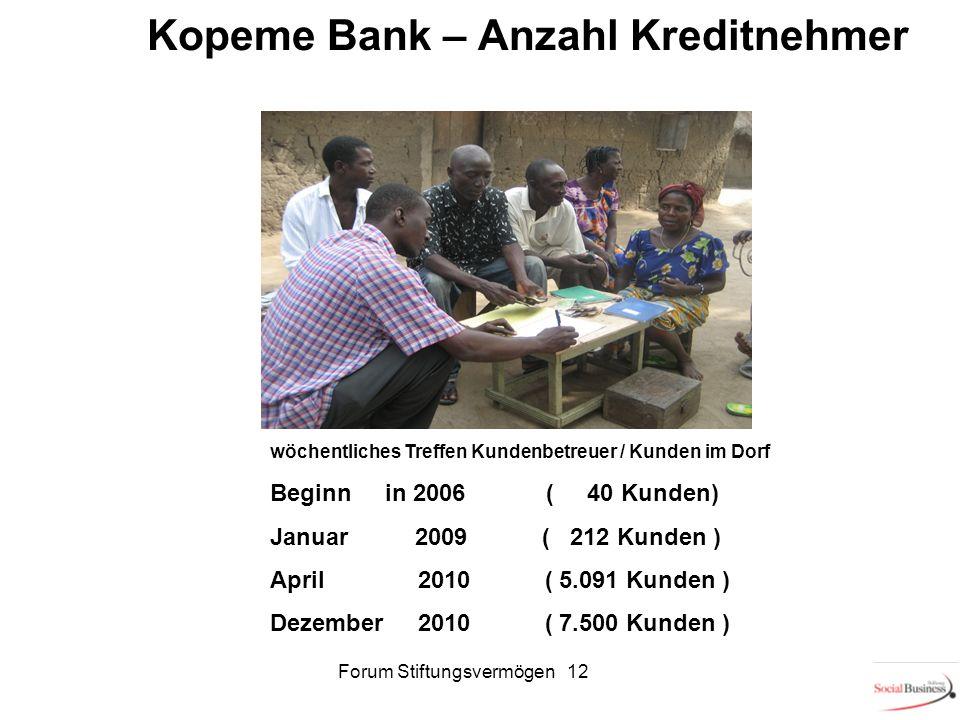 Kopeme Bank – Anzahl Kreditnehmer