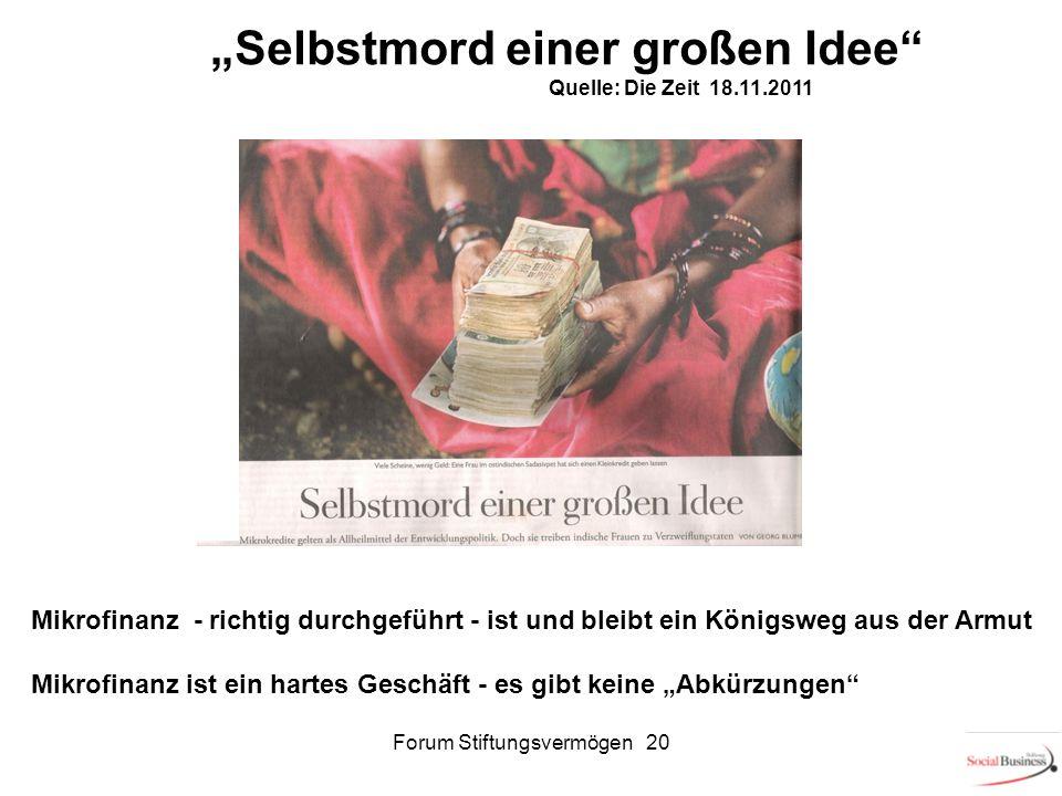 Forum Stiftungsvermögen 20