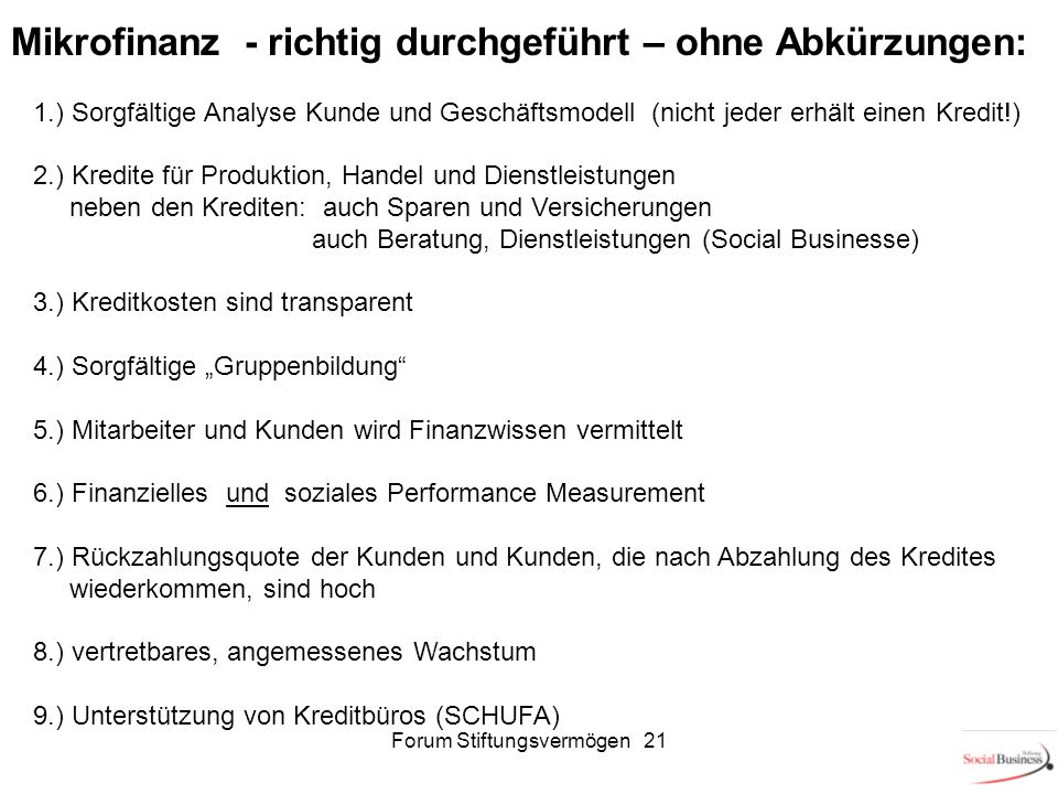 Forum Stiftungsvermögen 21