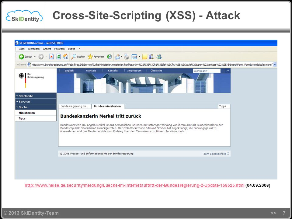 Cross-Site-Scripting (XSS) - Attack