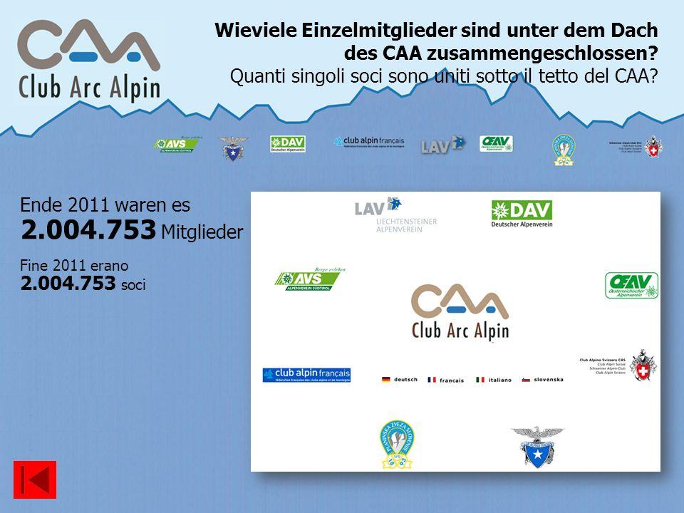 Ende 2011 waren es 2.004.753 Mitglieder