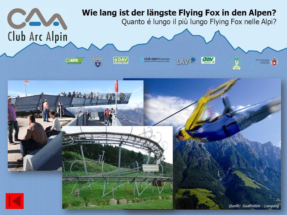 27.03.2017 Wie lang ist der längste Flying Fox in den Alpen Quanto é lungo il più lungo Flying Fox nelle Alpi