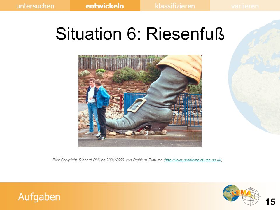 Situation 6: Riesenfuß Bild: Copyright Richard Phillips 2001/2009 von Problem Pictures (http://www.problempictures.co.uk)