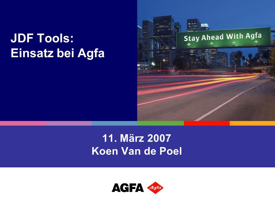 JDF Tools: Einsatz bei Agfa