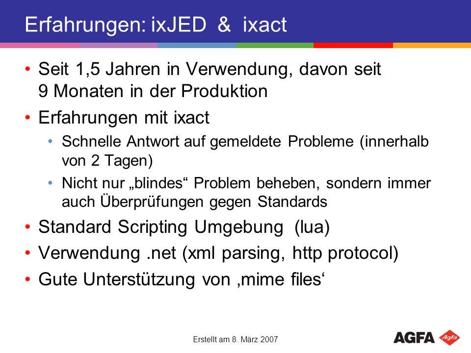 Erfahrungen: ixJED & ixact