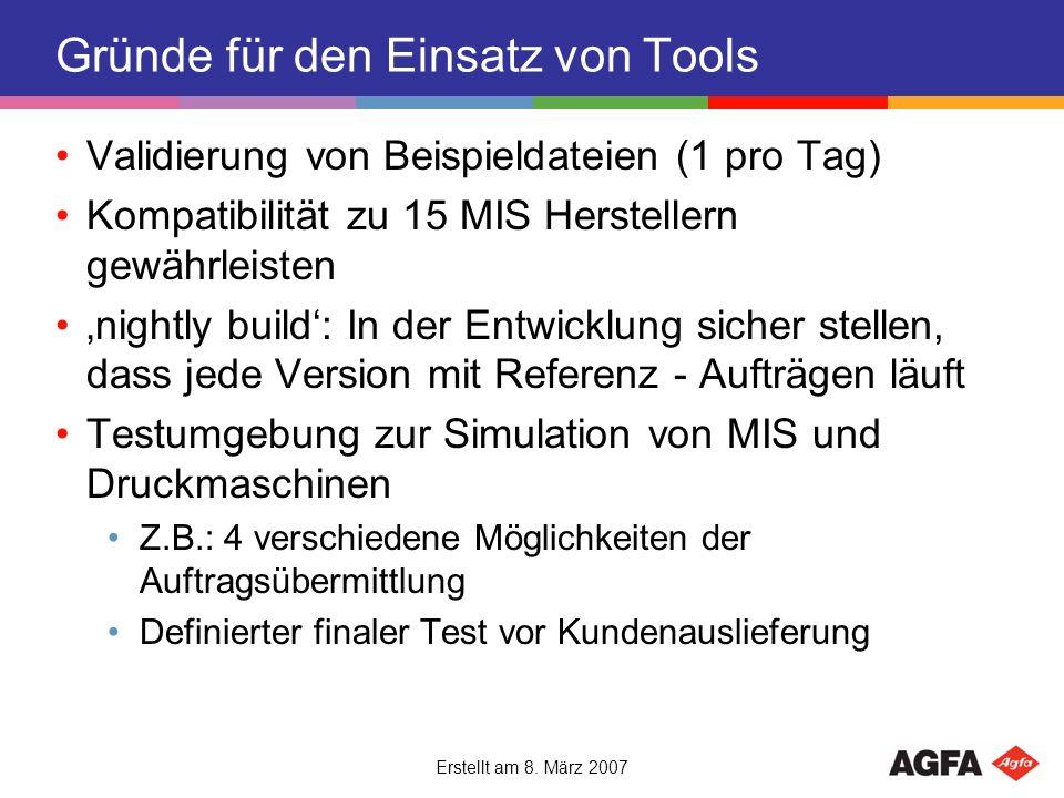 Gründe für den Einsatz von Tools
