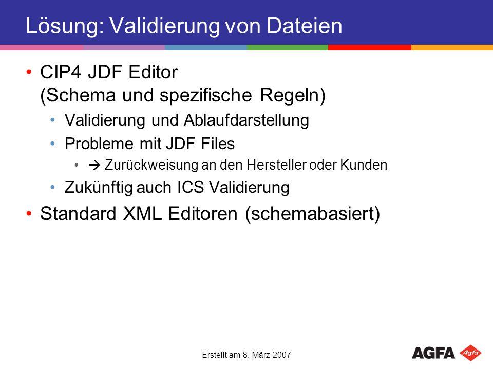Lösung: Validierung von Dateien