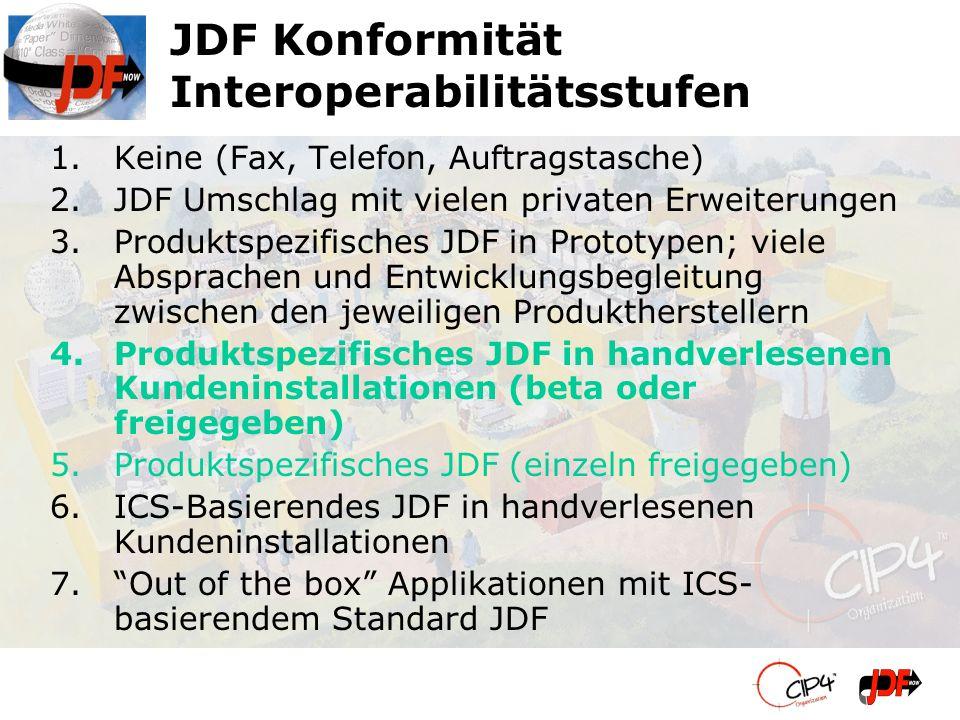 JDF Konformität Interoperabilitätsstufen