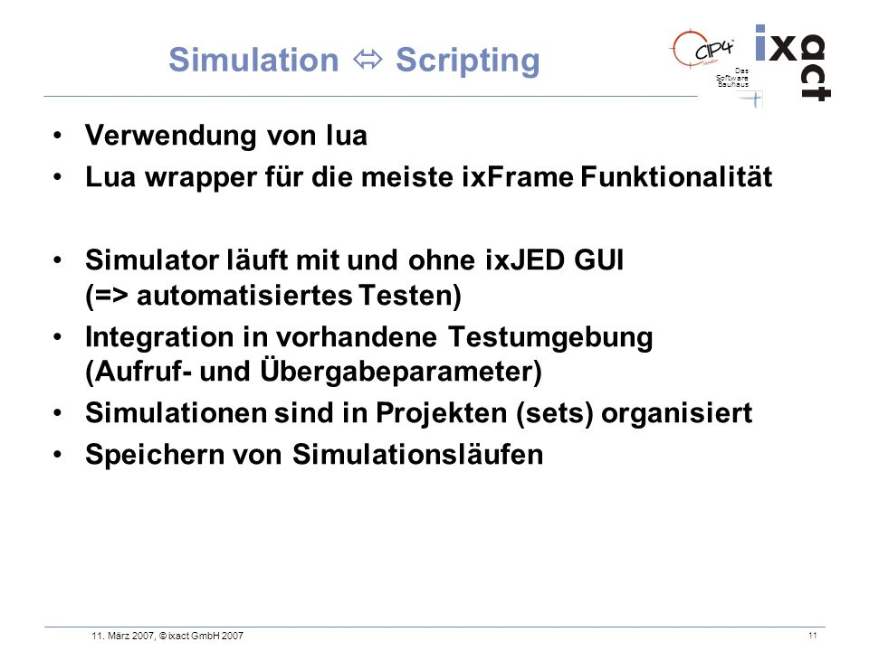 Simulation  Scripting