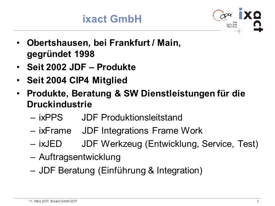 ixact GmbH Obertshausen, bei Frankfurt / Main, gegründet 1998