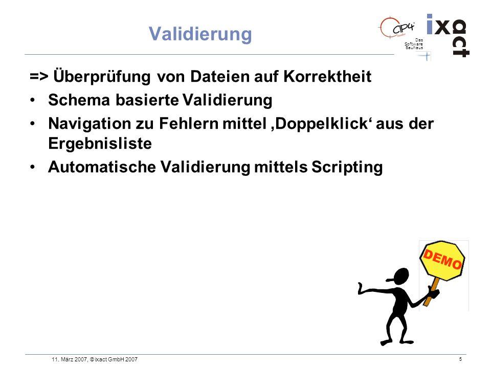 Validierung => Überprüfung von Dateien auf Korrektheit