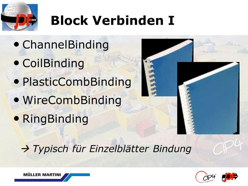 Block Verbinden I ChannelBinding CoilBinding PlasticCombBinding