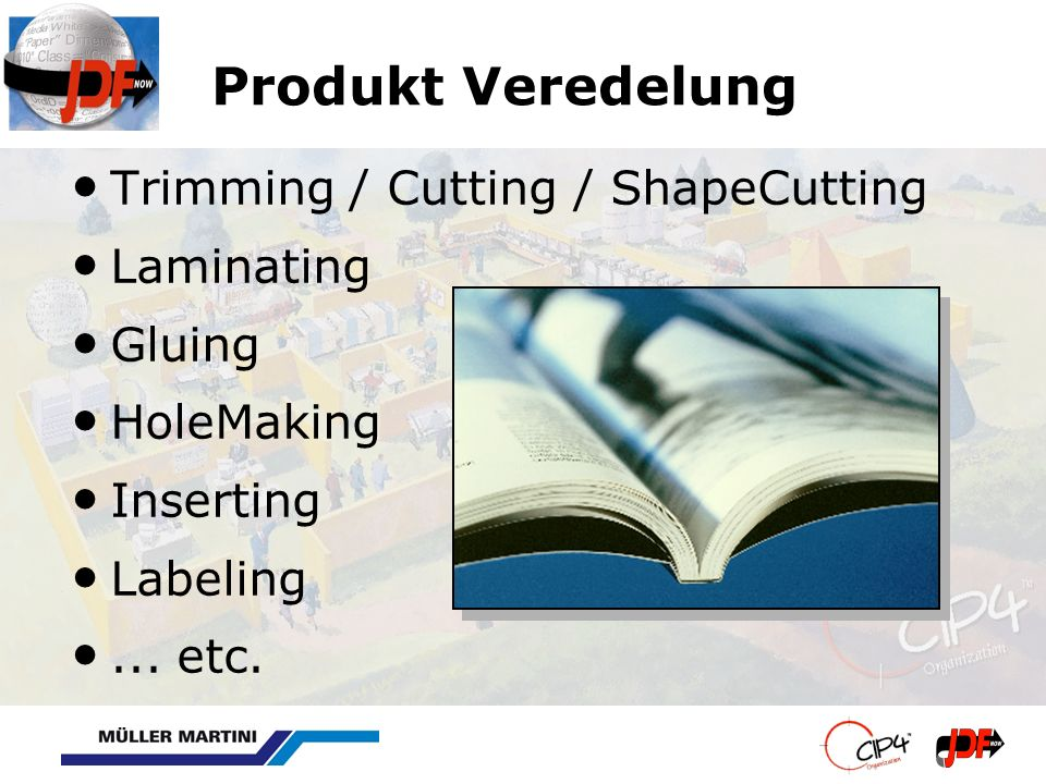 Produkt Veredelung Trimming / Cutting / ShapeCutting Laminating Gluing