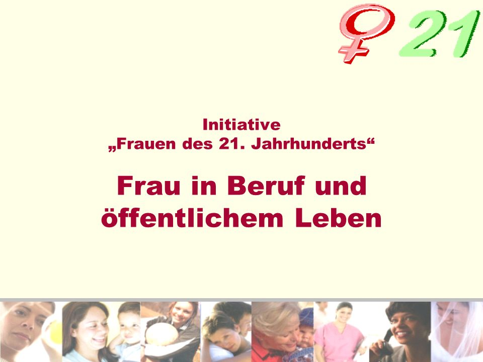 "Initiative ""Frauen des 21"