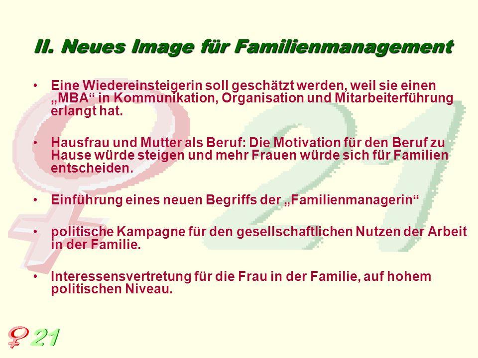 II. Neues Image für Familienmanagement