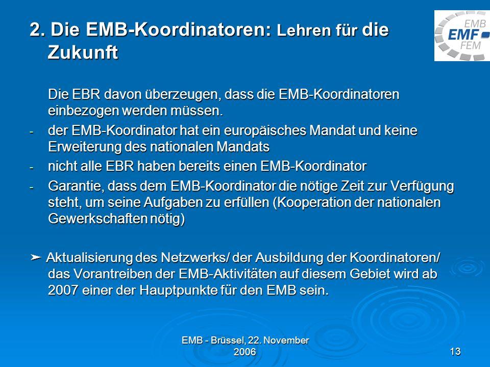 2. Die EMB-Koordinatoren: Lehren für die Zukunft