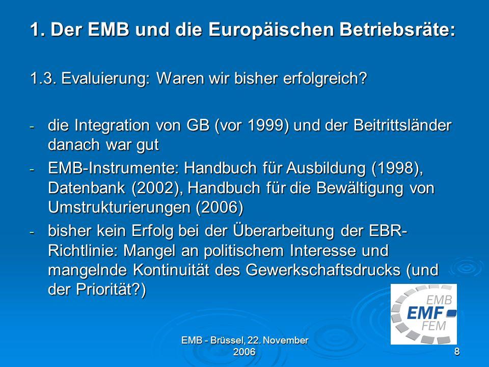 1. Der EMB und die Europäischen Betriebsräte: