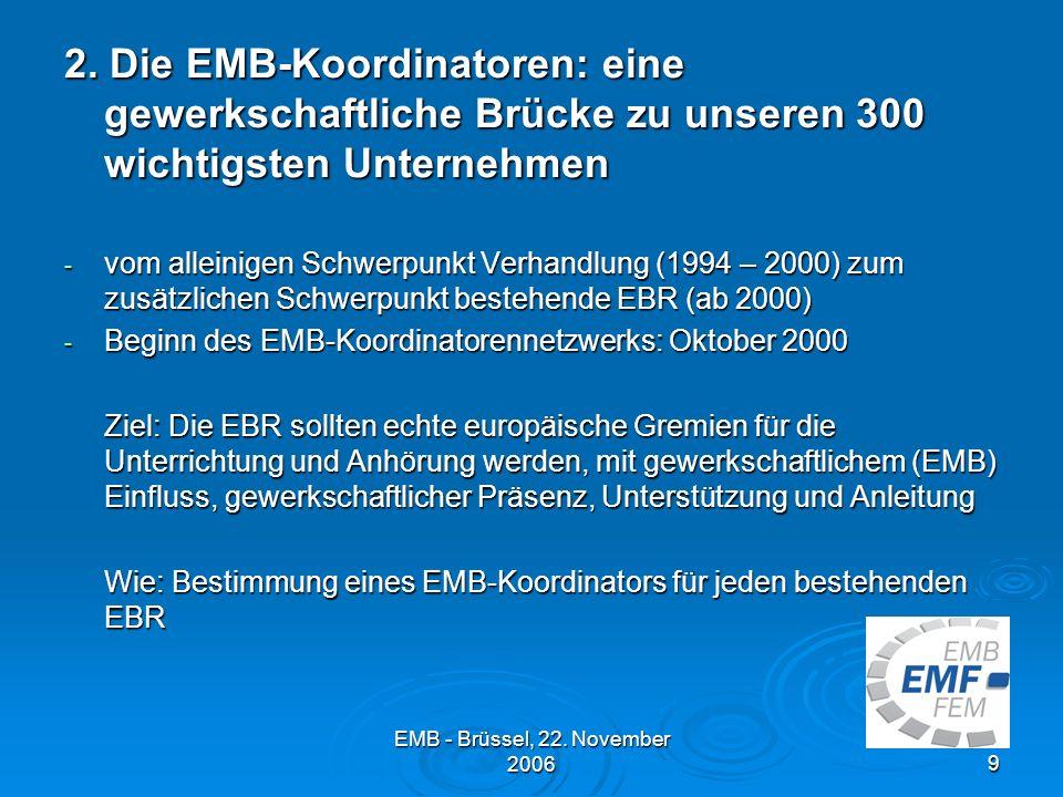 2. Die EMB-Koordinatoren: eine gewerkschaftliche Brücke zu unseren 300 wichtigsten Unternehmen
