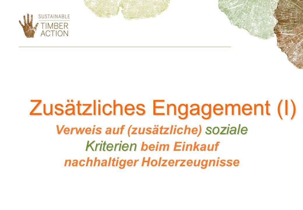 Zusätzliches Engagement (I)