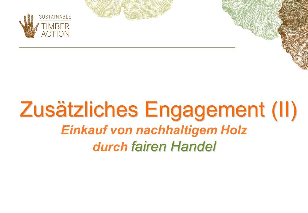 Zusätzliches Engagement (II)
