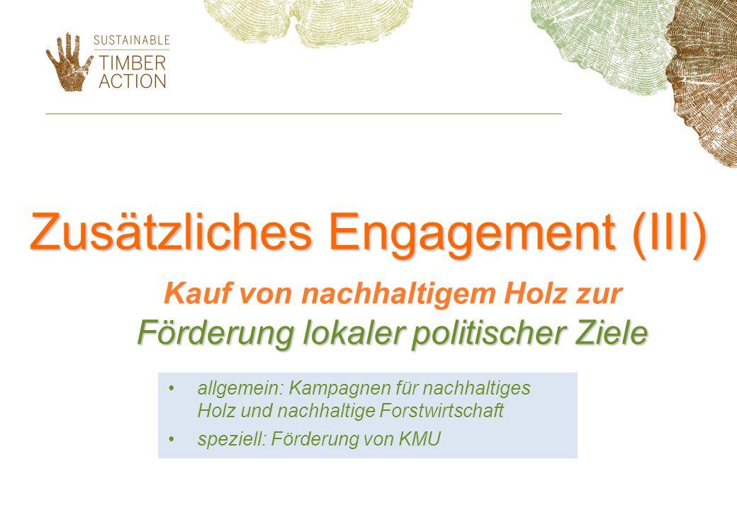 Zusätzliches Engagement (III)