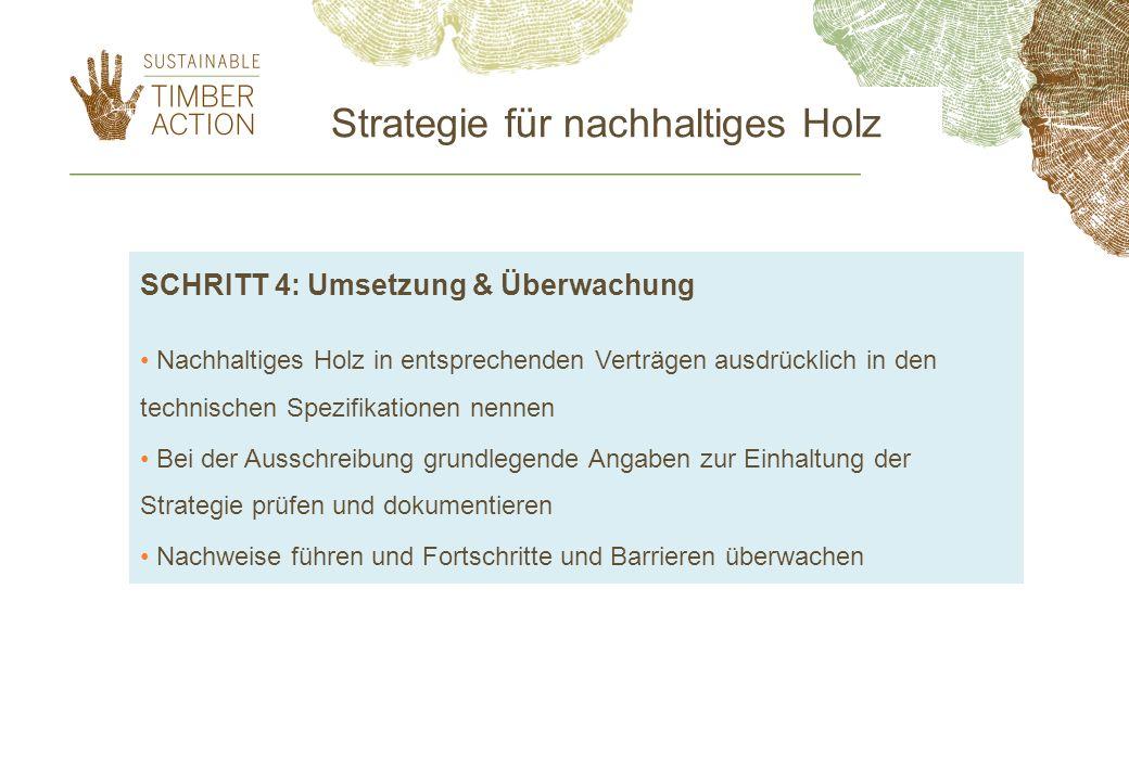 Strategie für nachhaltiges Holz