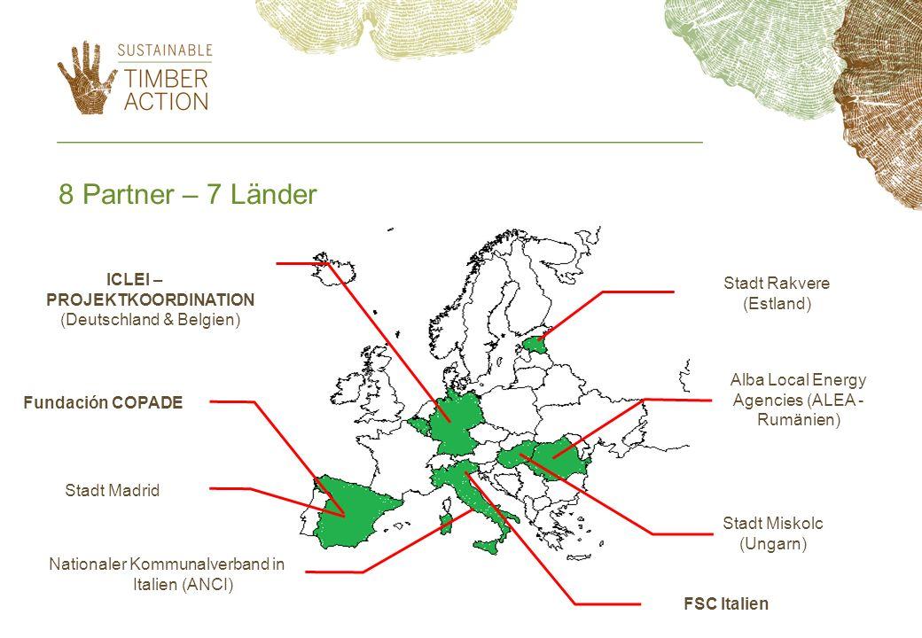 8 Partner – 7 LänderICLEI – PROJEKTKOORDINATION (Deutschland & Belgien) Stadt Rakvere. (Estland) Alba Local Energy Agencies (ALEA - Rumänien)