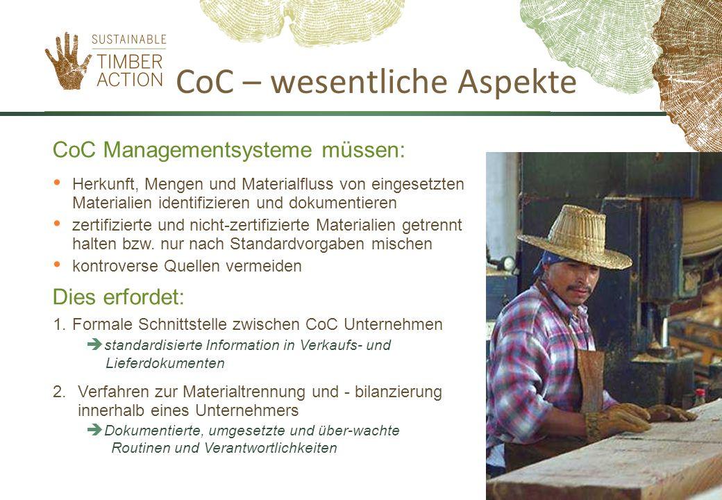 CoC – wesentliche Aspekte