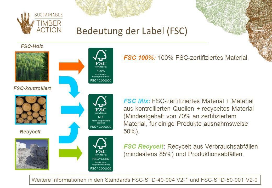 Bedeutung der Label (FSC)