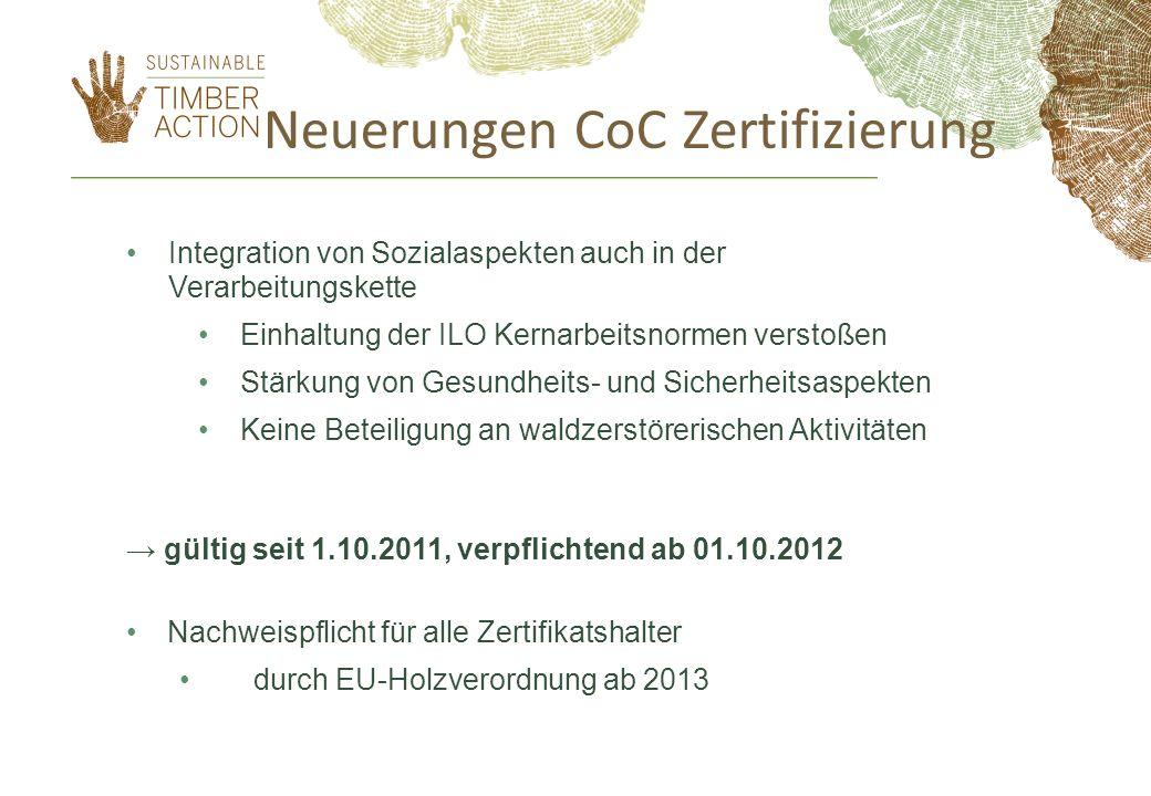 Neuerungen CoC Zertifizierung