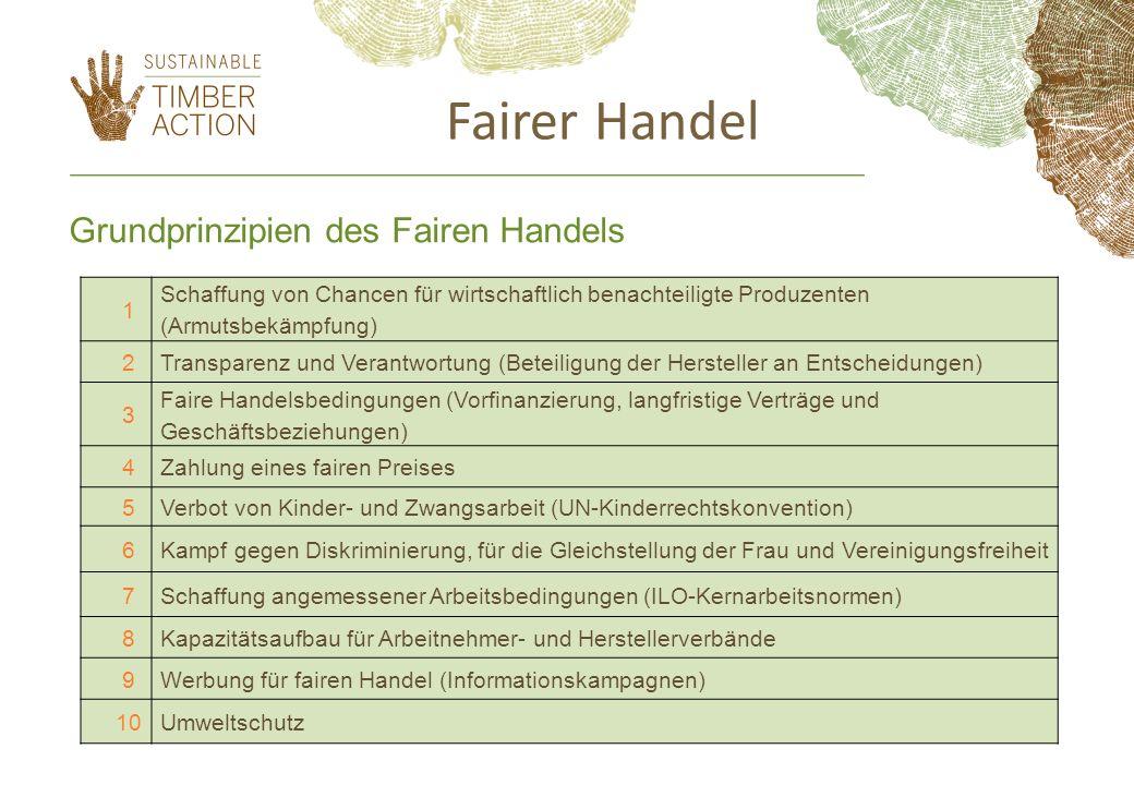Fairer Handel Grundprinzipien des Fairen Handels 1